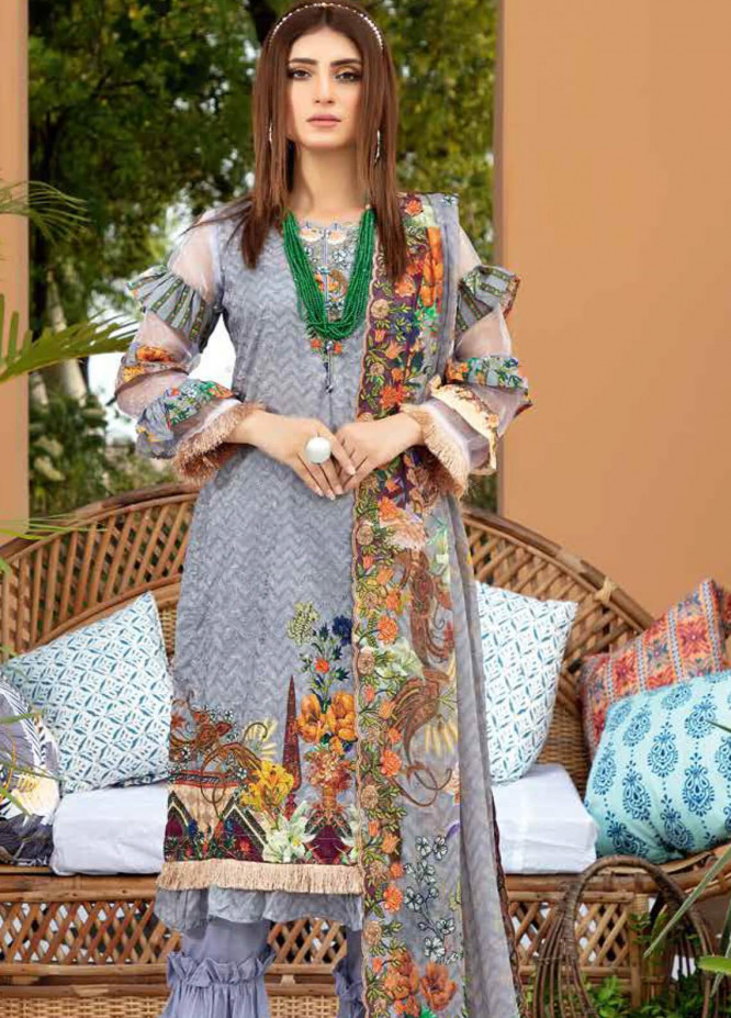 Aafreen by Riaz Arts Embroidered Lawn Unstitched 3 Piece Suit RA20A  AE 03 - Spring / Summer Collection