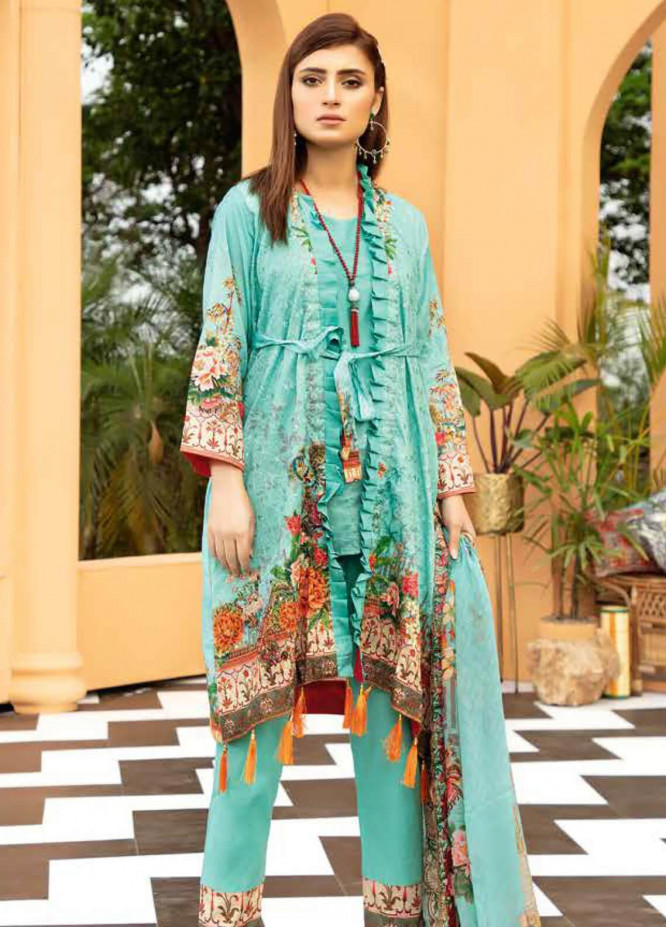 Aafreen by Riaz Arts Embroidered Lawn Unstitched 3 Piece Suit RA20A  AE 07 - Spring / Summer Collection