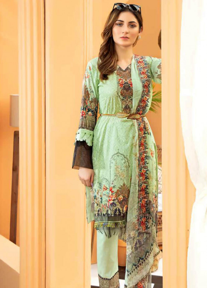 Aafreen by Riaz Arts Embroidered Lawn Unstitched 3 Piece Suit RA20A  AE 09 - Spring / Summer Collection