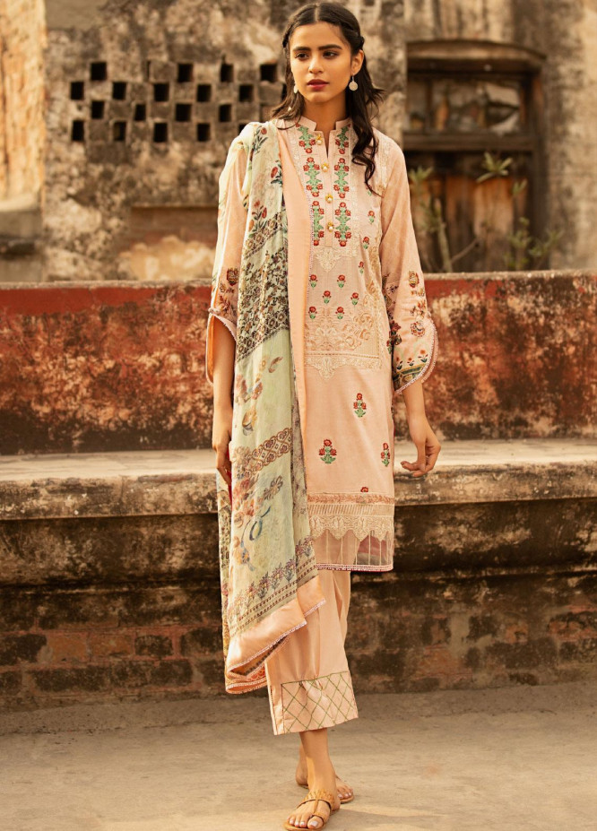 Abyaan Embroidered Lawn Unstitched 3 Piece Suit ABY20L 1 - Luxury Collection