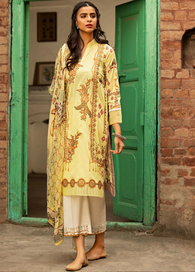 Abyaan Embroidered Lawn Unstitched 3 Piece Suit ABY20L 5 - Luxury Collection