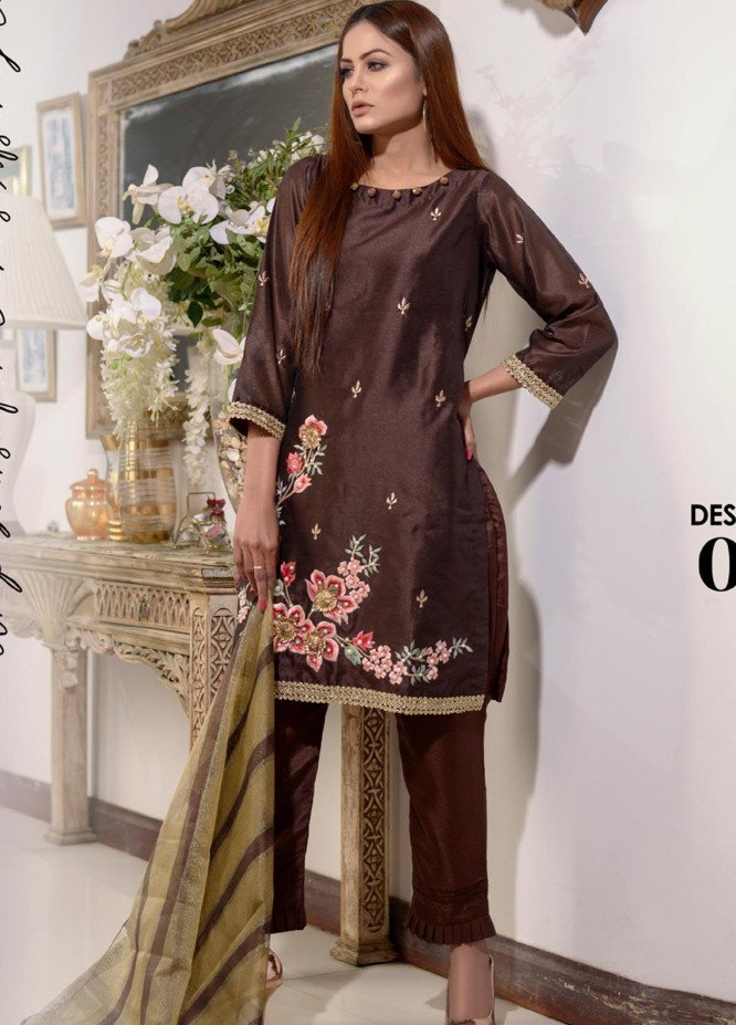Elaheh Embroidered Khaadi Unstitched 3 Piece Suit ELH20AF 04 - Luxury Collection