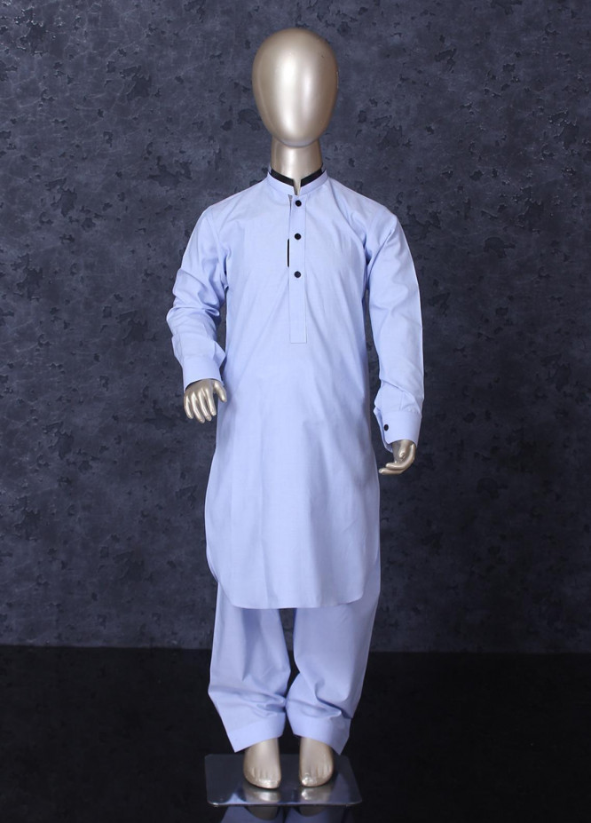 Aizaz Zafar Cotton Formal Boys Kameez Shalwar -  253 Sky Blue