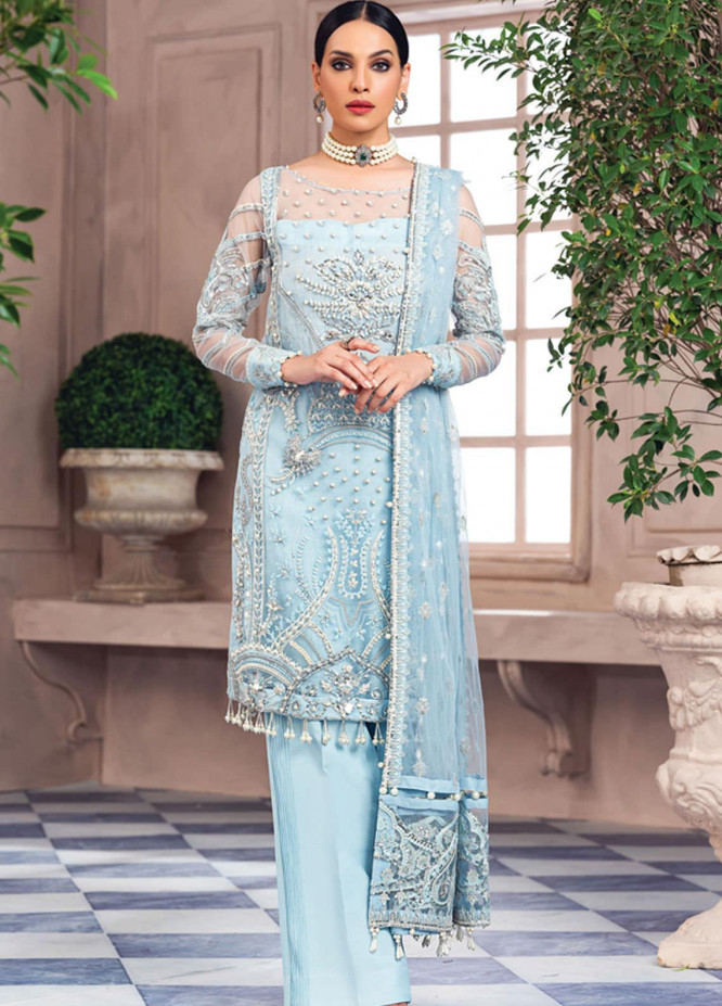 Alayna by Gulaal Embroidered Net Unstitched 3 Piece Suit GL20LF 08 Miya - Luxury Formal Collection
