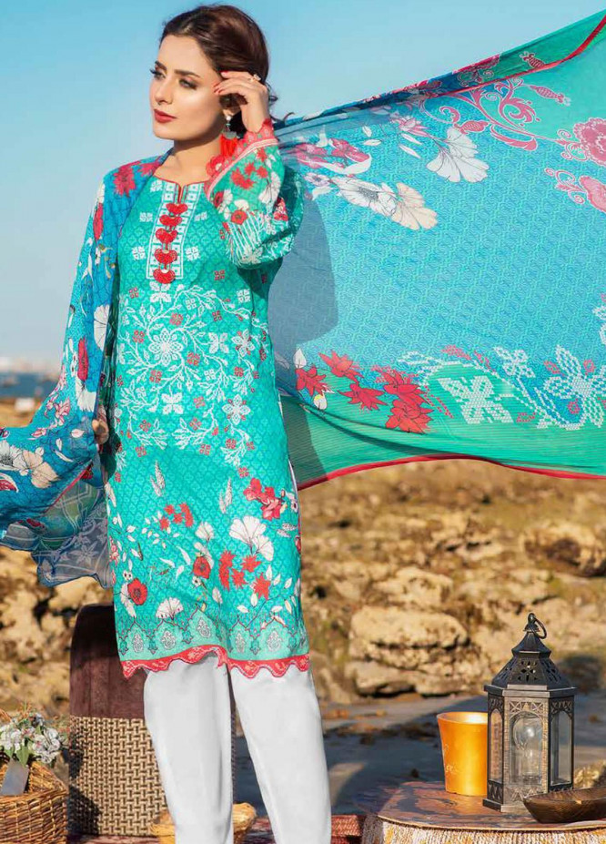 Alyssa by Banafsheh Embroidered Lawn Unstitched 3 Piece Suit BF20AL 8 - Summer Collection