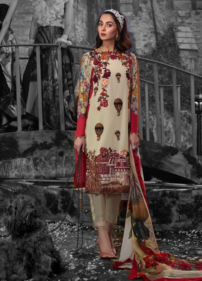 Asifa & Nabeel Embroidered Lawn Unstitched 3 Piece Suit AN19L 1A She Floated Above Stars - Spring / Summer Collection