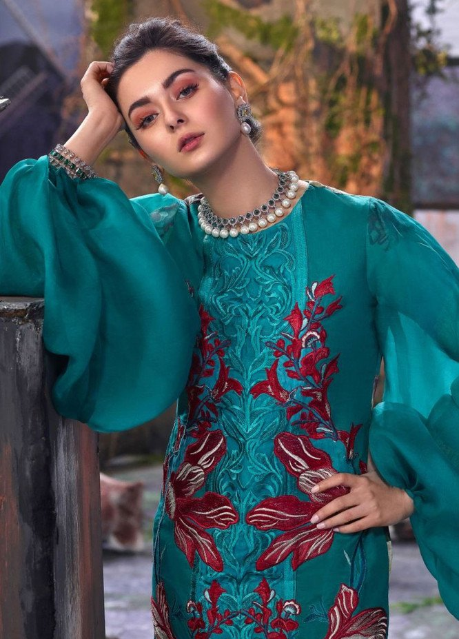 Asifa & Nabeel Embroidered Lawn Unstitched 3 Piece Suit AN19L 2T Mystic - Spring / Summer Collection