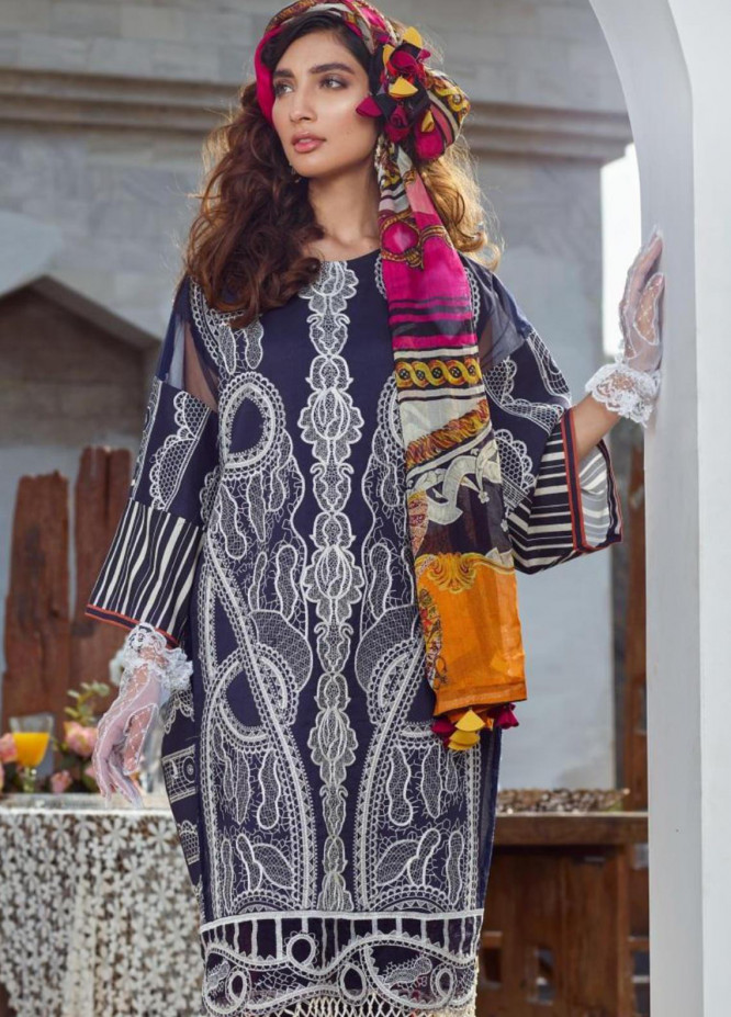 Asifa & Nabeel Embroidered Lawn Unstitched 3 Piece Suit AN20L Classy Creations 15-R - Spring / Summer Collection