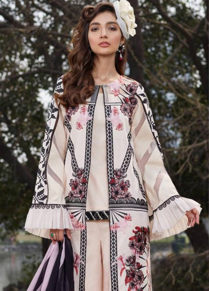 Asifa & Nabeel Embroidered Lawn Unstitched 3 Piece Suit AN20L Smell the Rose 50-K - Spring / Summer Collection