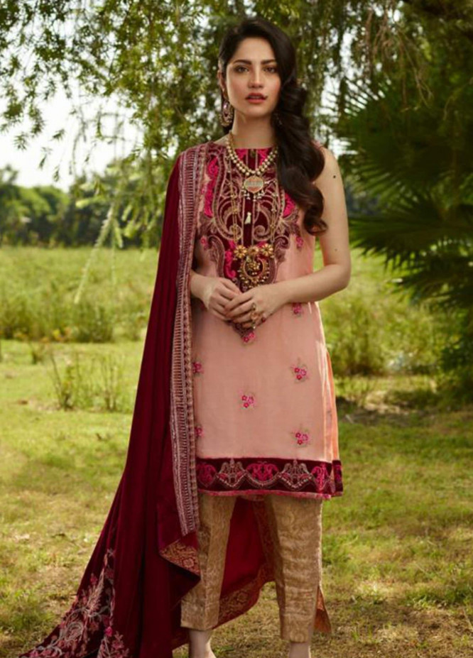 Asifa & Nabeel Embroidered Chiffon Unstitched 3 Piece Suit AN19W 2B JAHAAN - Winter Collection