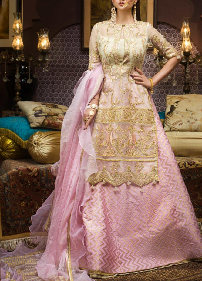 Asim Jofa Embroidered Organza Unstitched 3 Piece Suit AJ20FZ-06 - Luxury Collection