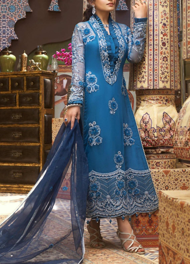 Asim Jofa Embroidered Organza Unstitched 3 Piece Suit AJ20FZ-10 - Luxury Collection