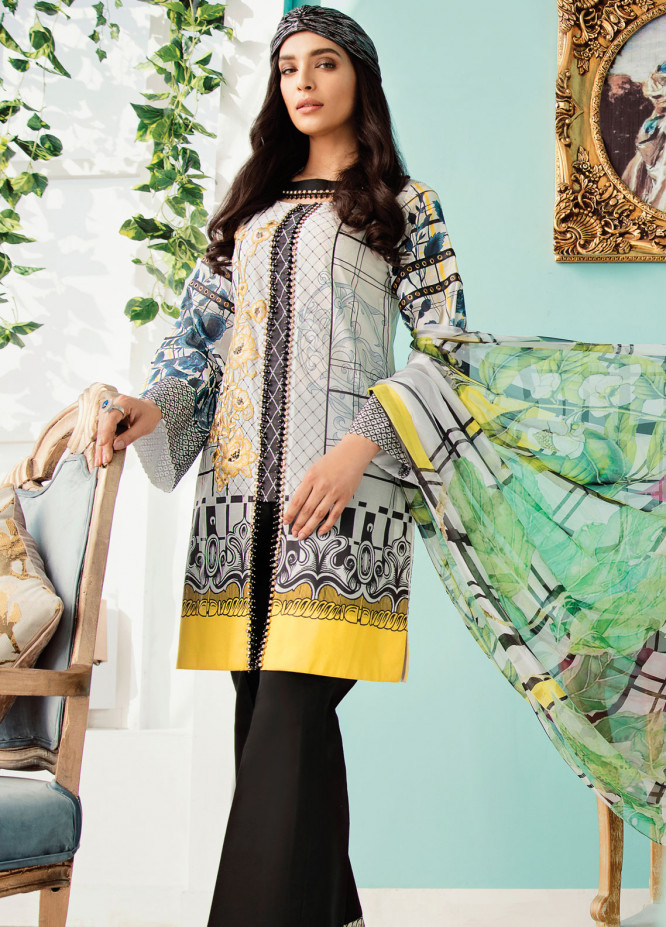 Azalea Embroidered Lawn Unstitched 3 Piece Suit AZA19EL 07 - Spring / Summer Collection