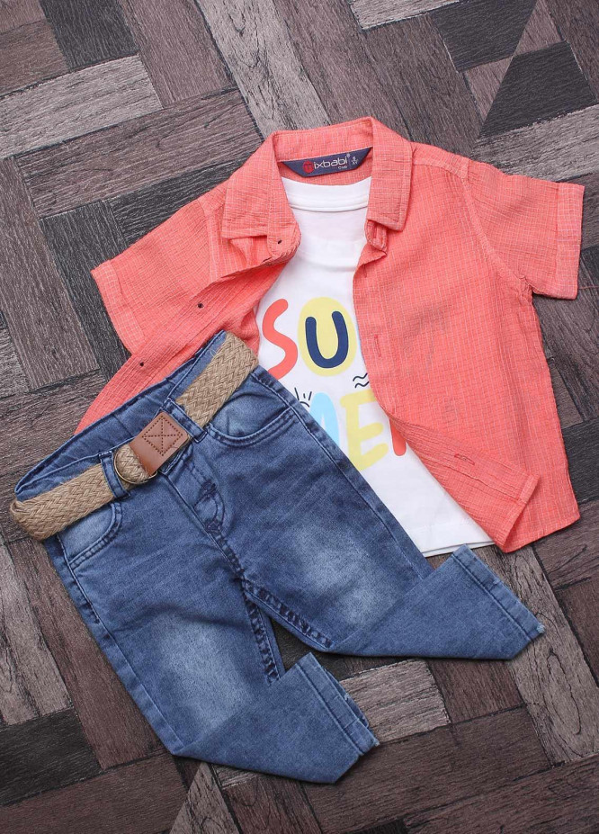 Sanaulla Exclusive Range Cotton Fancy Boys Suits -  7034 Pink