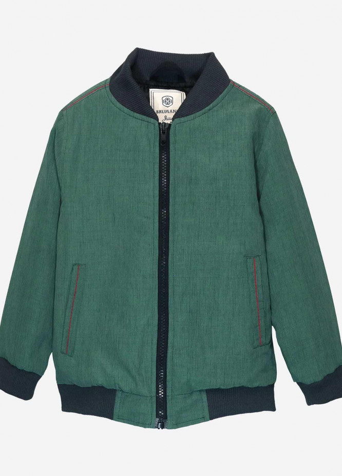 Brumano Polyester Casual Boys Jackets -  BM20JJ Sea Green Quilted Casual Bomber Jacket - Junior