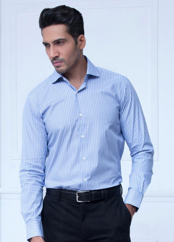 Brumano Cotton Formal Shirts for Men   Blue BRM 198