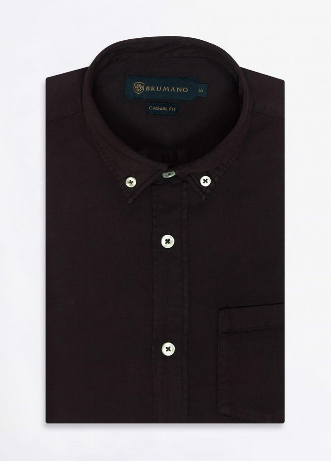 Brumano Cotton Formal Men Shirts -  BRM-852-Brown