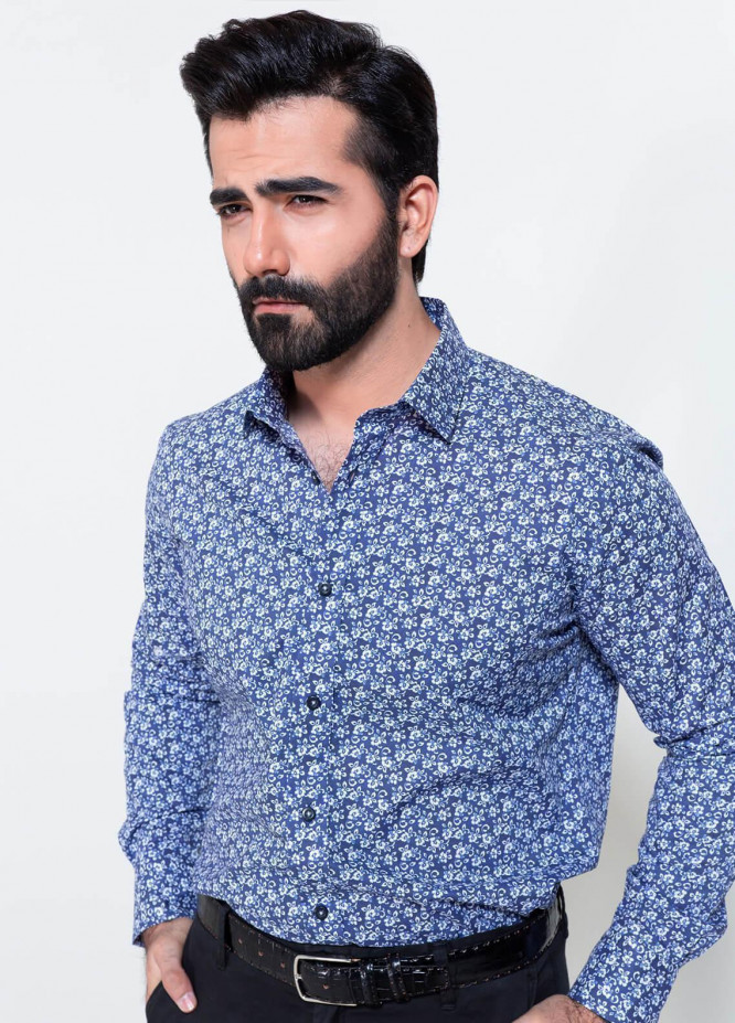 Brumano Cotton Formal Shirts for Men - Blue BRM-864