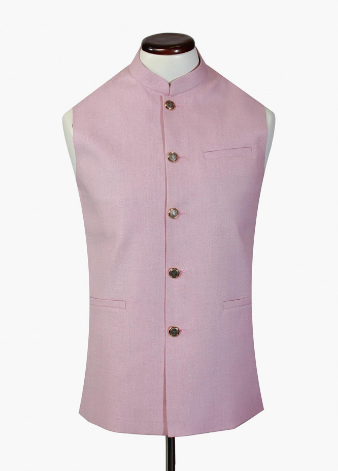 Brumano Cotton Formal Waistcoat for Men -  BM20WC Light Pink Waistcoat