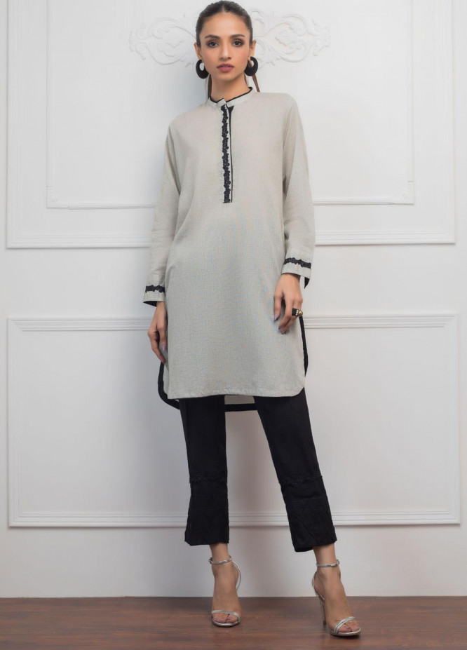 Sheep Casual Cotton Stitched Kurtis SH20CR S100618-A Grey Chambray