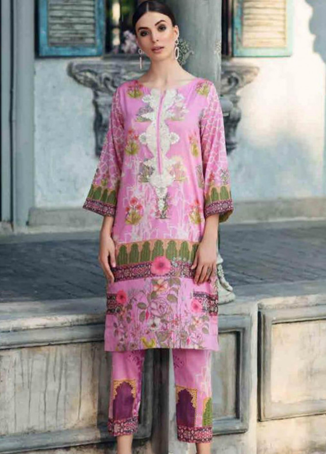 Charizma Embroidered Lawn Unstitched 2 Piece Suit CRZ19BE 01 - Mid Summer Collection