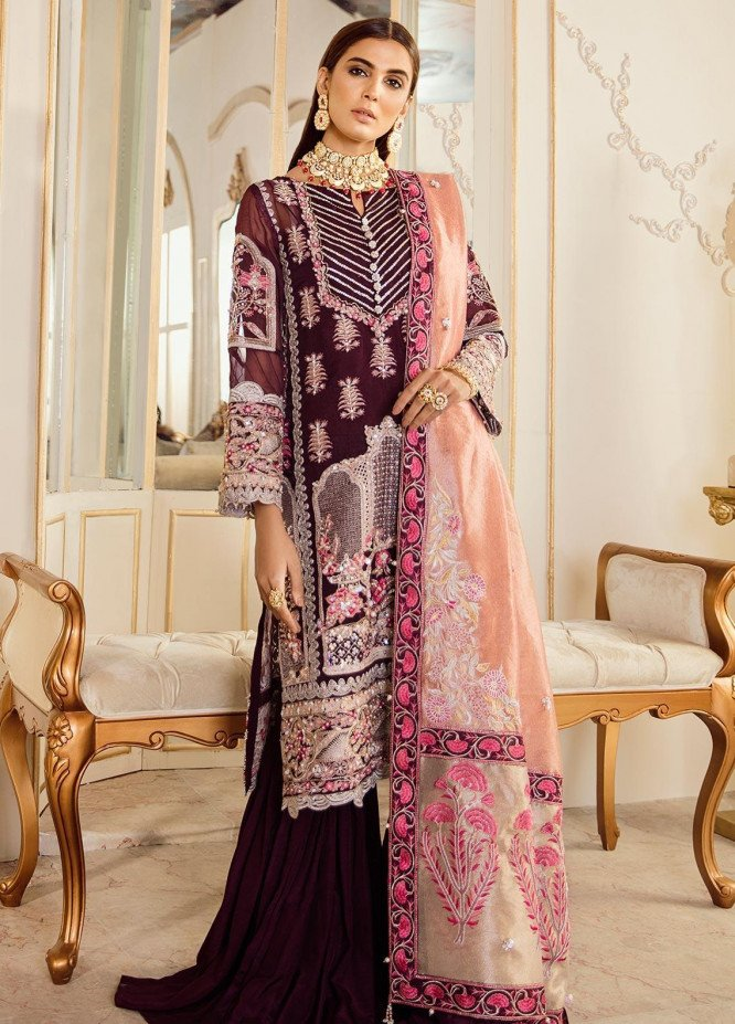 Rouche Embroidered Organza Unstitched 3 Piece Suit RCH20DX 5 - Luxury Collection