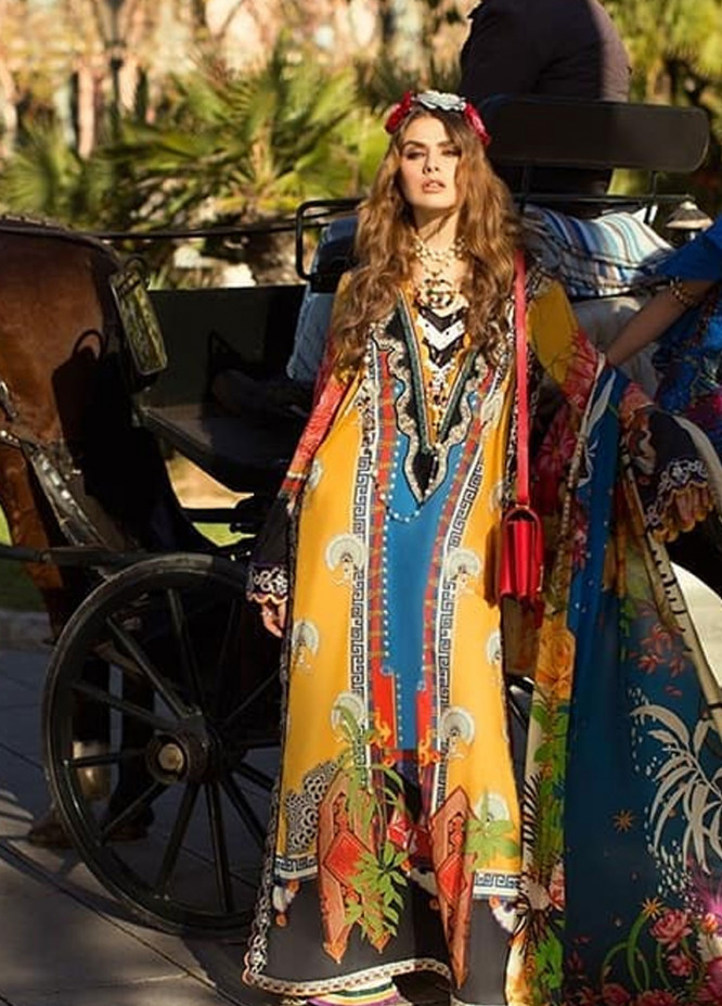 Elan Embroidered Lawn Unstitched 3 Piece Suit EL19L 11A FRENESI - Spring / Summer Collection