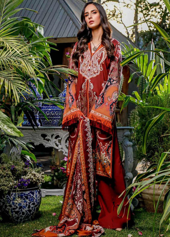 Firdous Fashion Embroidered Lawn Unstitched 3 Piece Suit FR20B EC-19444-B - Spring / Summer Collection