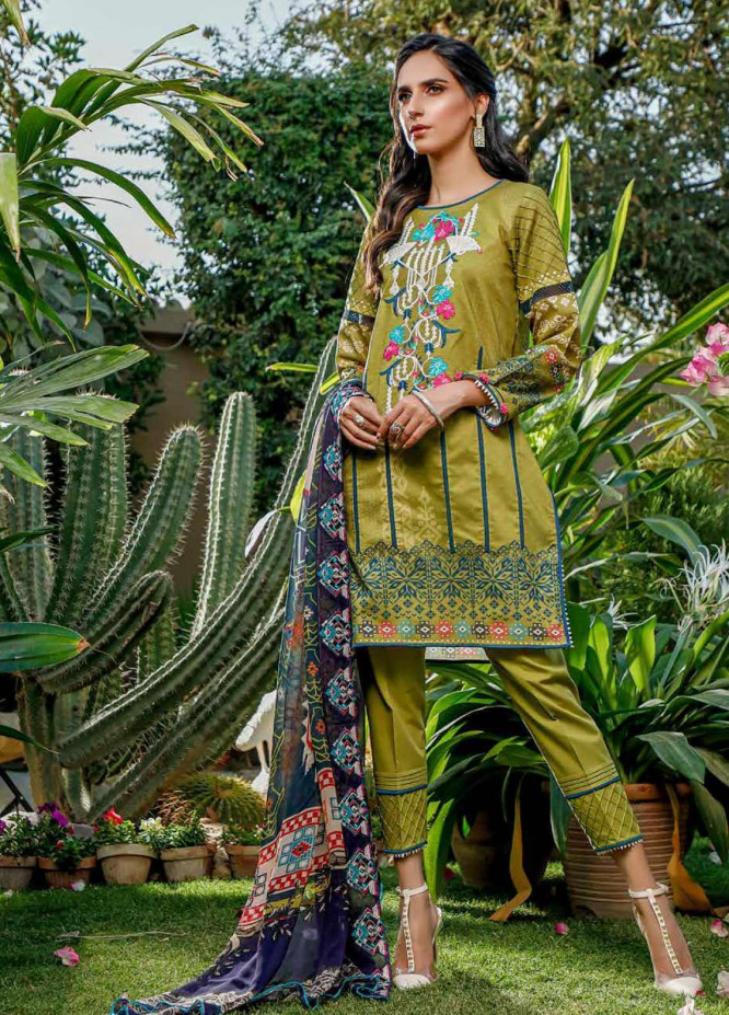 Firdous Fashion Embroidered Lawn Unstitched 3 Piece Suit FR20B EC-19461-A - Spring / Summer Collection