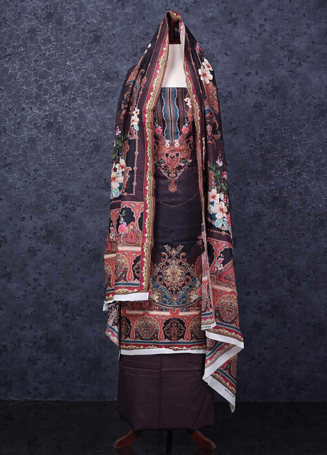 Firdous Fashion Printed Lawn Unstitched 3 Piece Suit FR20D 1114B - Spring / Summer Collection