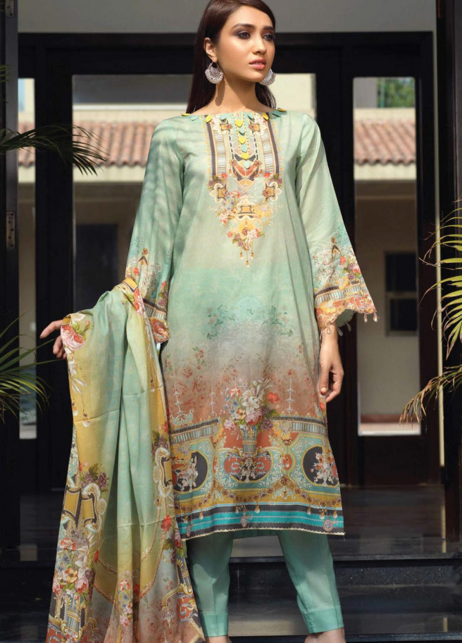 Firdous Fashion Printed Lawn Unstitched 3 Piece Suit FR20D 1131B - Spring / Summer Collection
