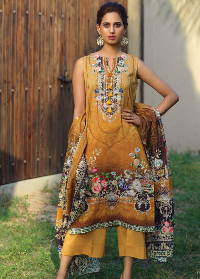 Firdous Fashion Printed Lawn Unstitched 3 Piece Suit FR20D 1133A - Spring / Summer Collection