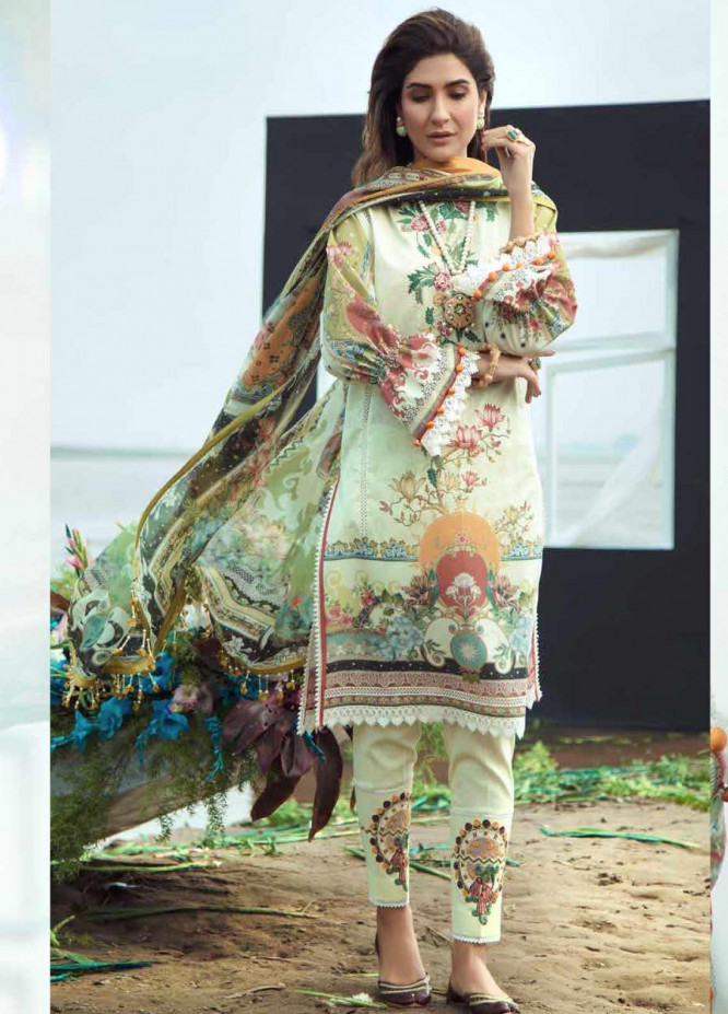 Firdous Fashion Embroidered Lawn Unstitched 3 Piece Suit FR20LS 19527 - Luxury Collection