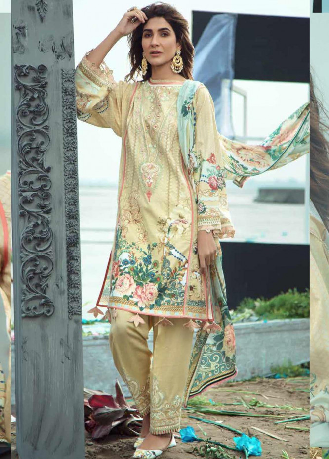 Firdous Fashion Embroidered Lawn Unstitched 3 Piece Suit FR20LS 19536 - Luxury Collection