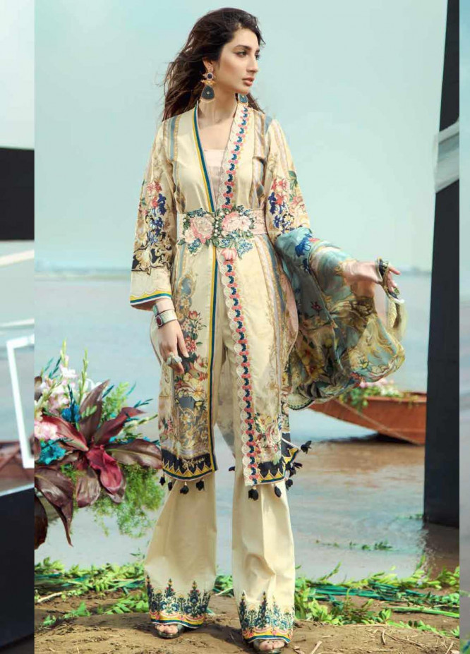 Firdous Fashion Embroidered Lawn Unstitched 3 Piece Suit FR20LS 19545 - Luxury Collection