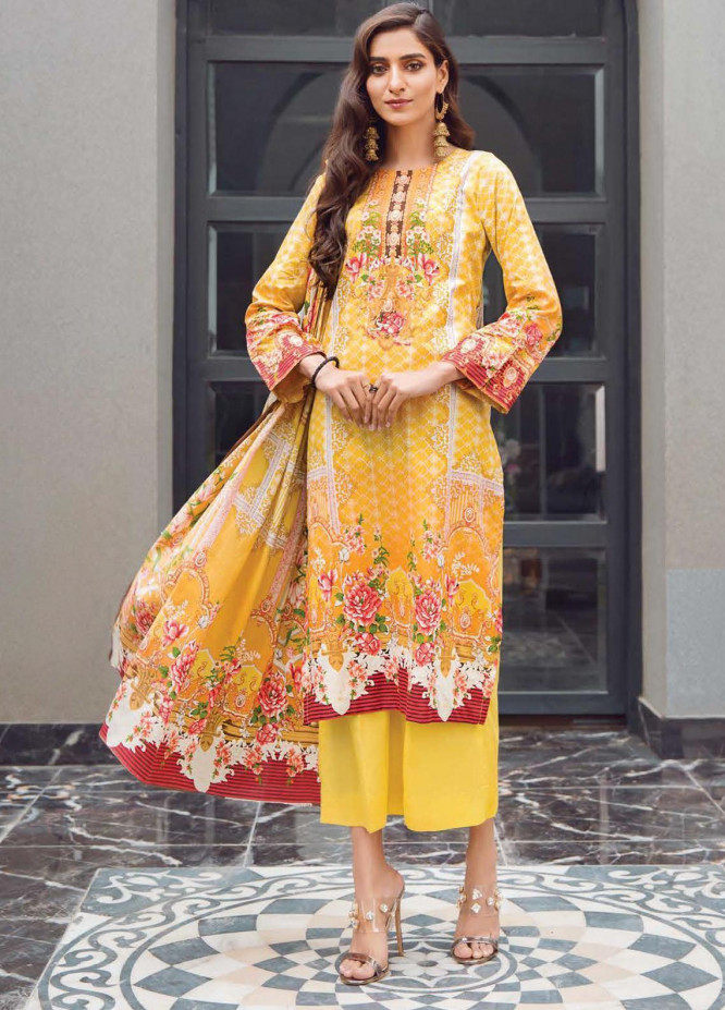 Firdous Fashion Printed Lawn Unstitched 3 Piece Suit FR20L-1 719B - Spring / Summer Collection