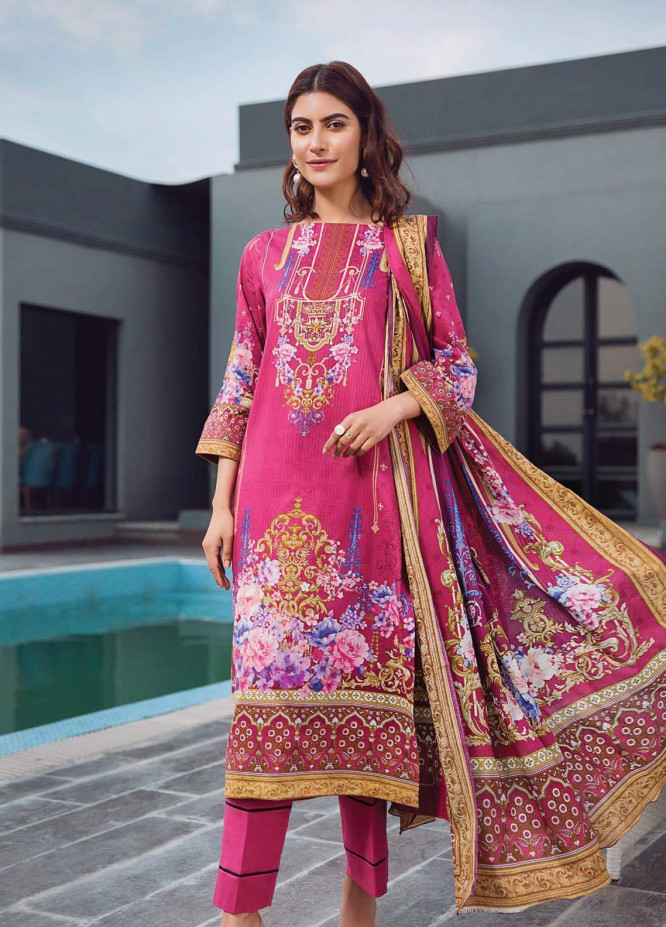 Firdous Fashion Printed Lawn Unstitched 3 Piece Suit FR20L-1 730A - Spring / Summer Collection