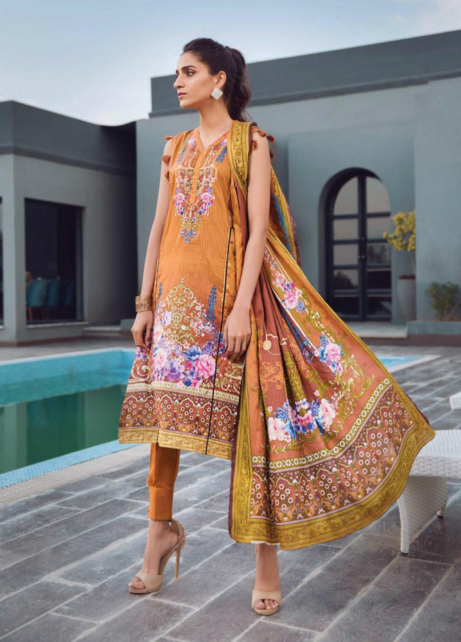 Firdous Fashion Printed Lawn Unstitched 3 Piece Suit FR20L-1 730B - Spring / Summer Collection