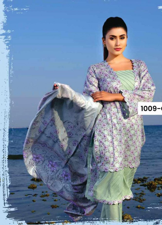 Five Star Printed Lawn Unstitched 3 Piece Suit FS20C 1009C - Spring / Summer Collection