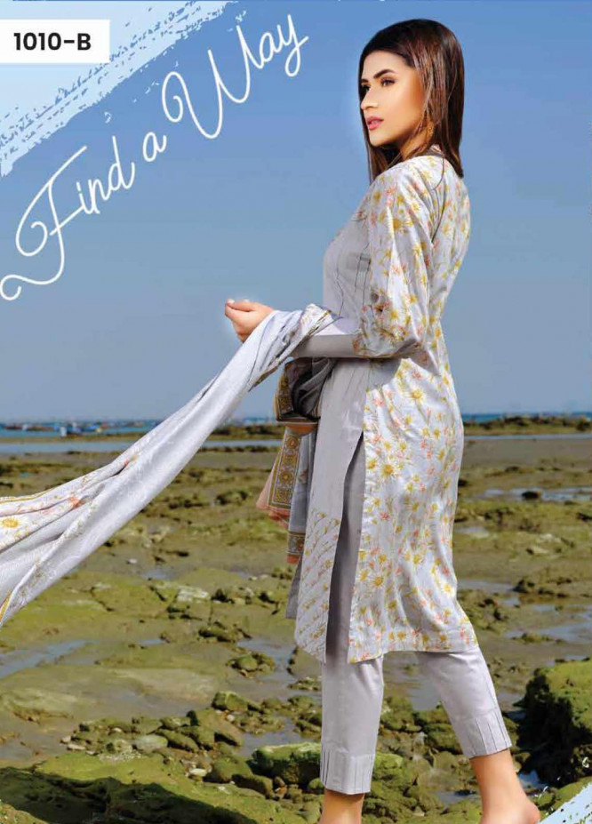 Five Star Printed Lawn Unstitched 3 Piece Suit FS20C 1010B - Spring / Summer Collection