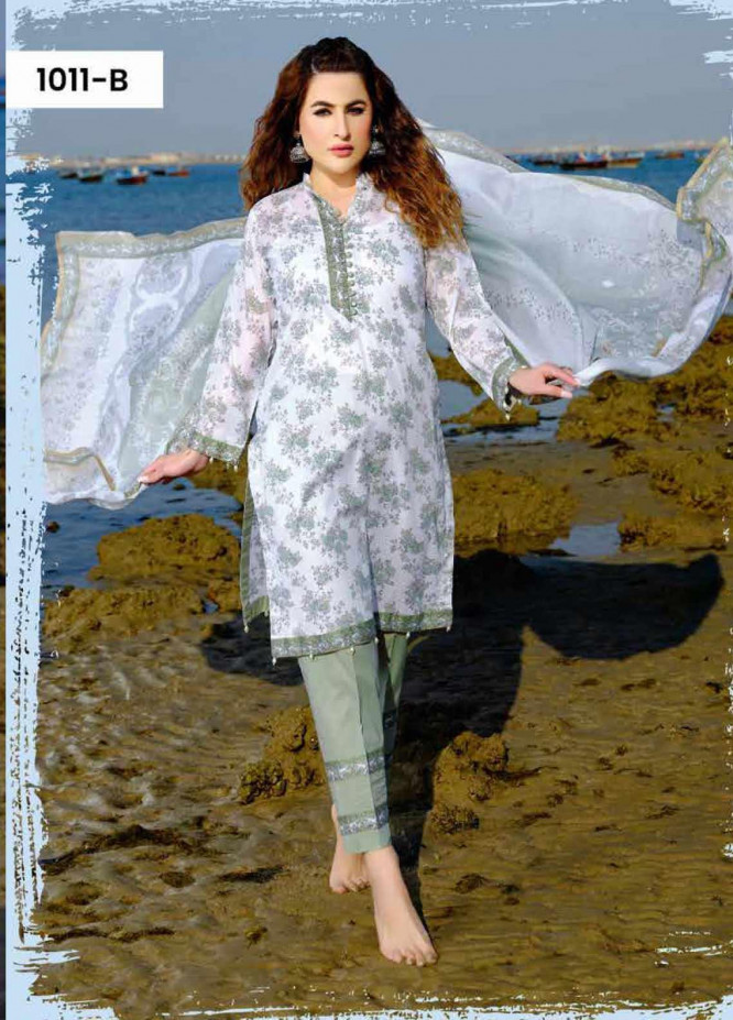 Five Star Printed Lawn Unstitched 3 Piece Suit FS20C 1011B - Spring / Summer Collection