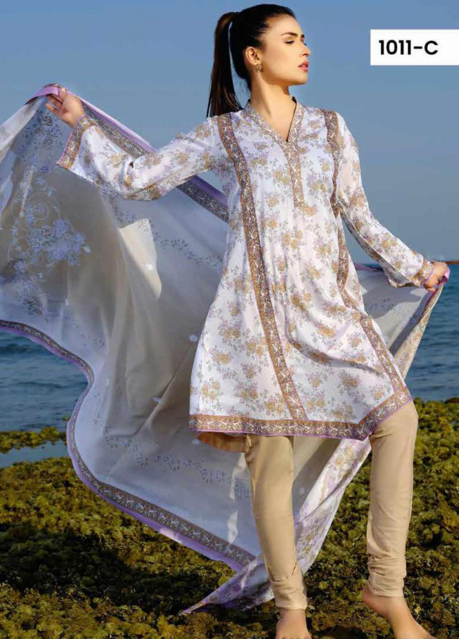 Five Star Printed Lawn Unstitched 3 Piece Suit FS20C 1011C - Spring / Summer Collection