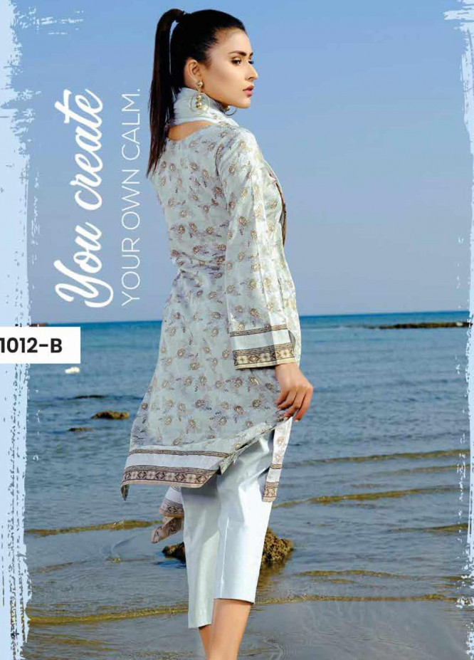 Five Star Printed Lawn Unstitched 3 Piece Suit FS20C 1012B - Spring / Summer Collection