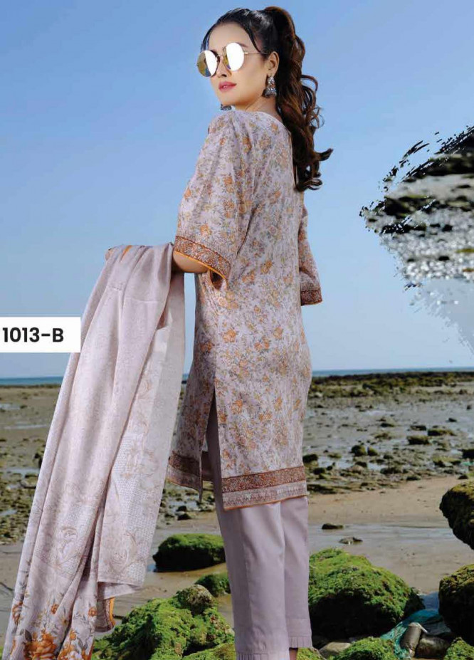 Five Star Printed Lawn Unstitched 3 Piece Suit FS20C 1013B - Spring / Summer Collection