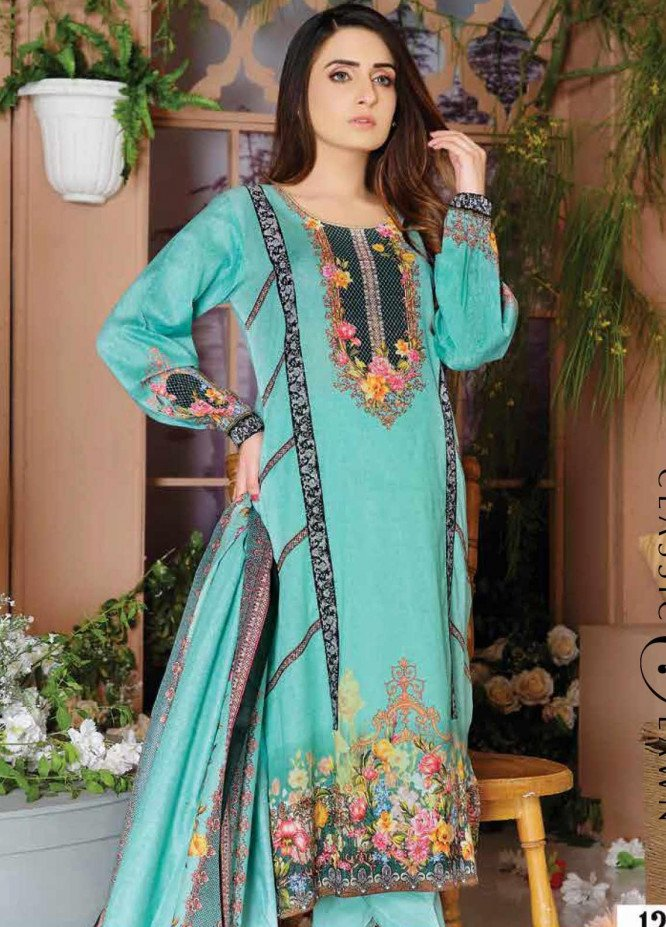 Five Star Printed Lawn Unstitched 3 Piece Suit FS20CL-1 1202B - Spring / Summer Collection