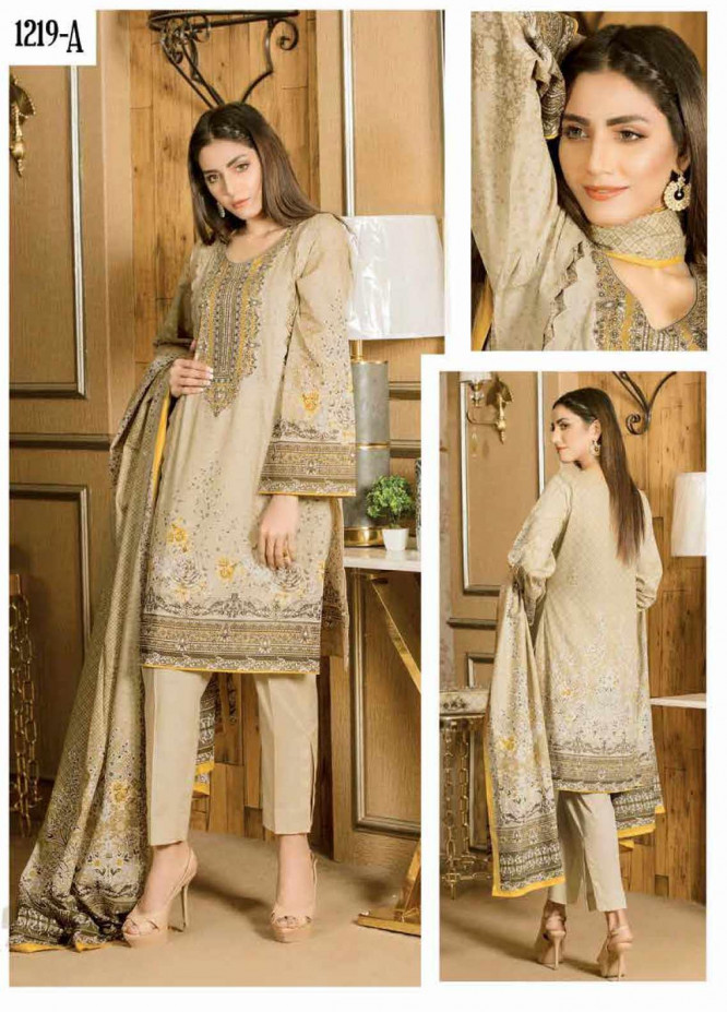 Five Star Printed Lawn Unstitched 3 Piece Suit FS20CL 1219A - Spring / Summer Collection