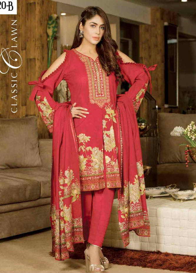 Five Star Printed Lawn Unstitched 3 Piece Suit FS20CL 1220B - Spring / Summer Collection