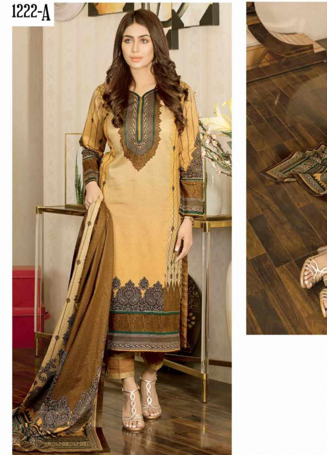 Five Star Printed Lawn Unstitched 3 Piece Suit FS20CL 1222A - Spring / Summer Collection