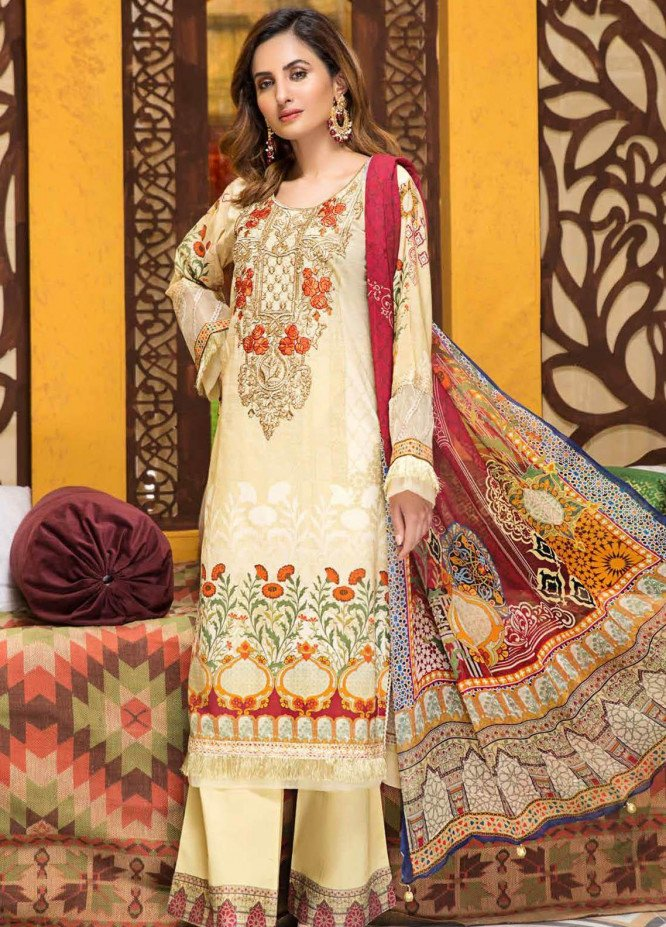 Florence by Mohagni Embroidered Lawn Unstitched 3 Piece Suit MO20F SLE 03 - Spring / Summer Collection