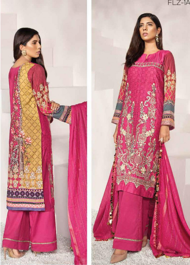 Florent Embroidered Jacquard Unstitched 3 Piece Suit F20LC 1A - Luxury Collection